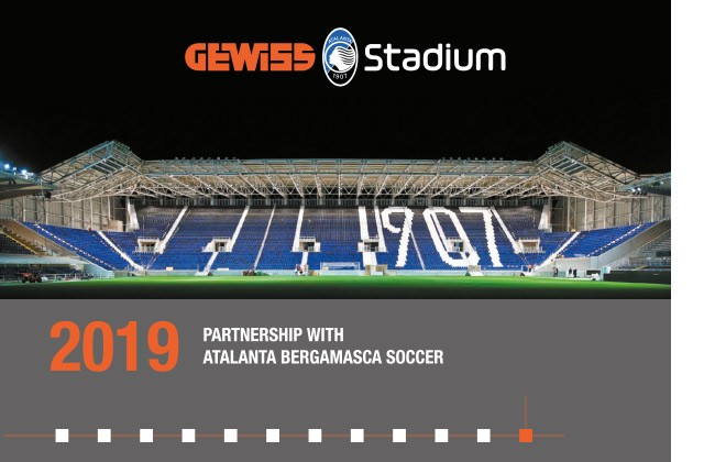 2019 - PARTNERSHIP WITH ATALANTA BERGAMASCA SOCCER