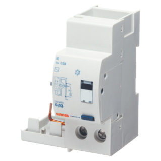 ADD ON RESIDUAL CURRENT CIRCUIT BREAKER FOR MT CIRCUIT BREAKER - 2P 25A TYPE AC INSTANTANEOUS Idn=0,03A - 2 MODULES