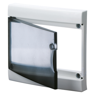 TRANSPARENT SMOKED DOOR WITH FRAME FOR FINISHING FRENCH STANDARD MODULAR ENCLOSURES WITHOUT DOOR - IP40 - 26 MODULES