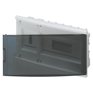Distribution boards to house ICP power limiting circuit breaker sealable - In=40A - Smoked transparent door