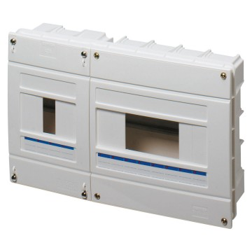 Distribution boards to house ICP power limiting circuit breaker sealable - In=40A -White RAL 9016