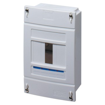 Enclosures to house ICP power limiting circuit breaker - without door sealable - In=40A - Grey RAL 7035