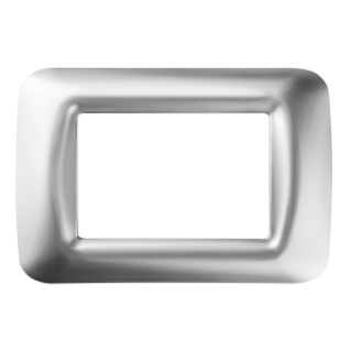 TOP SYSTEM PLATE - IN TECHNOPOLYMER GLOSS FINISH - 3 GANG - SOFT CHROME - SYSTEM