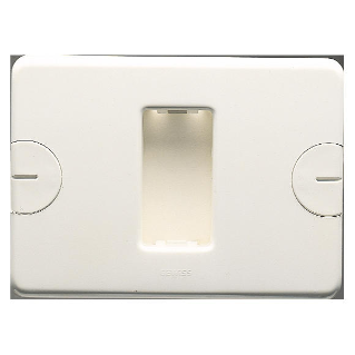 COMPACT PLATE - SELF-SUPPORTING - 1 GANG - CLOUD WHITE - SYSTEM