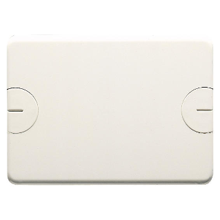 BLANK PLATE FOR RETTANGOLARI FLUSH-MOUNTING BOXES - 3 GANG - WITH SCREW - CLOUD WHITE