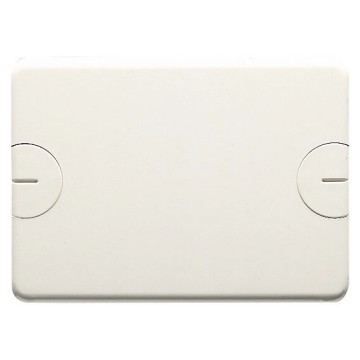 Blank plates for rectangular flush-mounting boxes