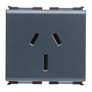 SOCKET-OUTLET STANDARD AUSTRALIANO 250V ac - 2P+E 10A - 2 MODULES - PLAYBUS
