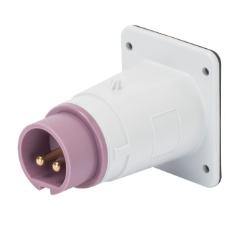 Extra-low voltage screw wiring straight flush-mounting inlets
