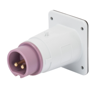 STRAIGHT FLUSH MOUNTING INLET - IP44 - 2P 32A 20-25V 50-60HZ - VIOLET - n.r. - SCREW WIRING