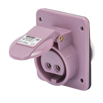 Extra-low voltage screw wiring 10° angled flush-mounting socket-outlets