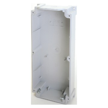Surface-mounting bottom for vertical fixed socket-outlets for heavy-duty use IP66