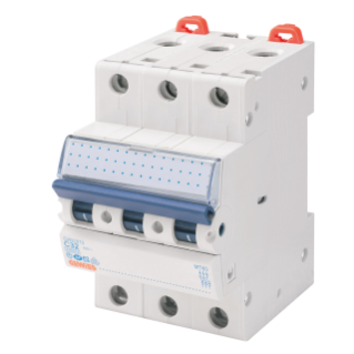 MINIATURE CIRCUIT BREAKER - MT 100- 3P CHARACTERISTIC C 40A - 3 MODULES