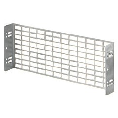 Perforated plates in galvanised steel - Fixing by means of uprights