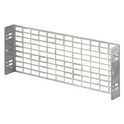 PERFORATED PLATE - IN GALVANISED STEEL - FIXING BY MEANS OF UPRIGHTS - 1X24 MODULES