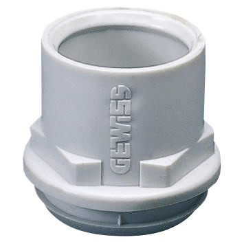 Flexible polymer conduit/box couplings Grey RAL 7035 - IP44
