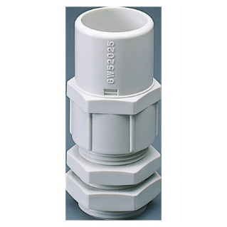 NYLON CABLE GLAND WITH HOUSING FOR RIGID CONDUIT - PG PITCH 42 FOR CONDUITS Ø 50MM - GREY RAL 7035 - IP66
