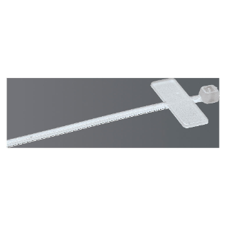 CABLE TIE - WITH IDENTIFICATION TAG - 2,5X100 - COLOURLESS