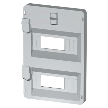 Panels with window for modular devices and moulded-case circuit breakers in fixed position execution, up to 160 A coupling - Grey RAL 7035
