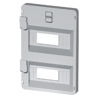 FRONT PANEL WITH WINDOWS 32 MODULES 396X474 ENCLOSURES - GREY RAL7035
