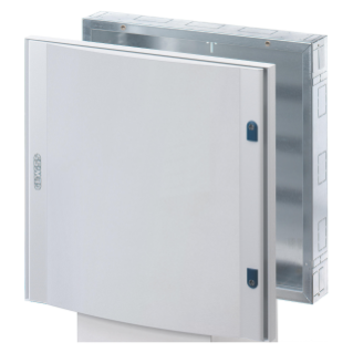 CVX DISTRIBUTION BOARD 160I  - FLUSH-MOUNTING - 600x800x105 - 120(24x5) MODULES - IP40 - BLANK DOOR IN SHEET METAL- WITH 2 LOCKS -GREY RAL7035