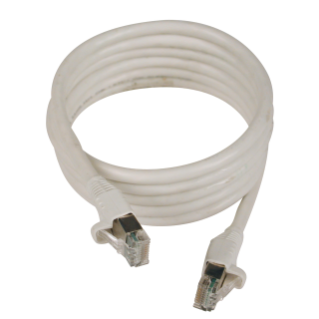 RJ45-RJ45 PATCH-CORDS - 4 - SHIELDED - CATEGORY 5e FTP 24 AWG - CABLE: 0,5m - GREY