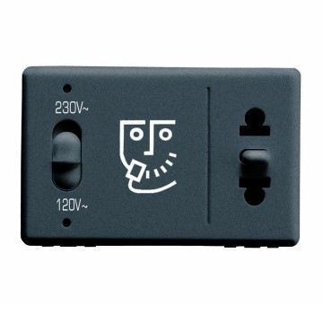 Euro-American Standard shaver socket-outlet with insulation transformer