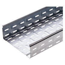 CABLE TRAY WITH TRANSVERSE RIBBING IN GALVANISED STEEL - BRN110 - WIDHT 515MM - FINISHING Z275