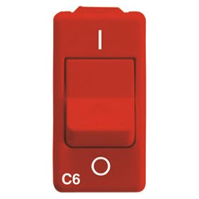 MCB - Red miniature circuit breakers for dedicated circuits - C characteristic - 230V ac