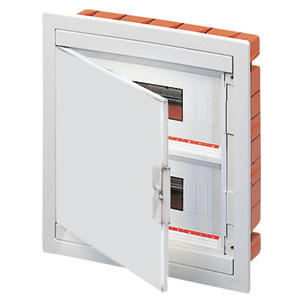 FLUSH MOUNTING ENCLOSURE - WITH BLANK DOOR - PRE-FITTED WITH TERMINAL BLOCK HOUSING (12X2) 24 MODULES IP40