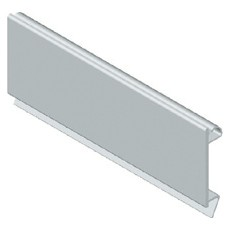 Blanking module profile in plastic material - Grey RAL 7035