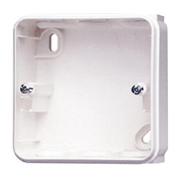 Wall-mounting housing for RCD safety socket-outlets and units