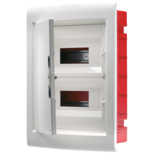 DISTRIBUTION BOARD - PANEL WITH WINDOW AND EXTRACTABLE FRAME - BLANK DOOR - TERMINAL BLOCK N (3X16)+(17X10) E (3X16)+(17X10) - 36M (18X2) IP40
