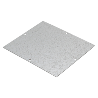 BACK-MOUNTING PLATE IN GALVANISED STEEL - FOR BOXES 128X103