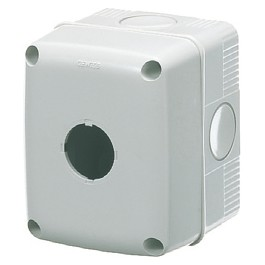 Empty enclosures for push-buttons, controls and indicators Ø 22 mm - Grey RAL 7035 - IP66