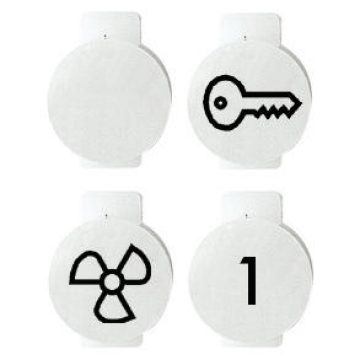 Symbols for illuminable switches and push-buttons
