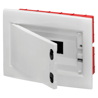 ENCLOSURE - FLUSH MOUNTING - EXTRACTABLE FRAME - BLANK DOOR -  TERMINAL BLOCK N (2X16)+(7X10) E (2X16)+(7X10) - 8 MODULES - IP40