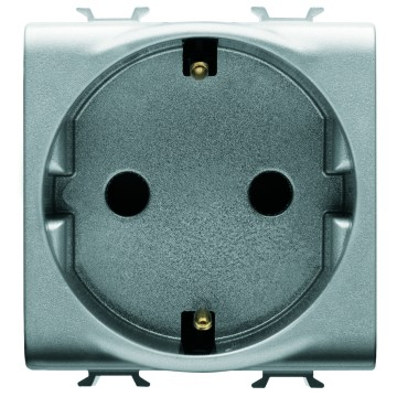 Spanish standard socket with front tightening terminals - 250V AC