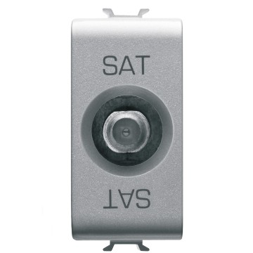 Coaxial TV-SAT sockets (5-2400 MHz) class A shielding - female F connector