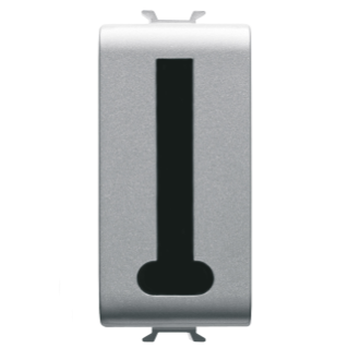FRENCH STANDARD TELEPHONE SOCKET - 8 CONTACTS - SCREW-ON TERMINALS - 1 MODULE - TITANIUM - CHORUS