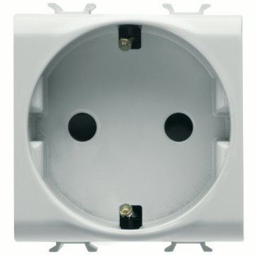 German Standard socket-outlet with front tightening terminals - 250V ac