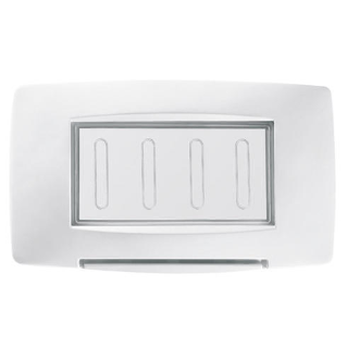 WATERTIGHT PLATE ITALIAN STANDARD - 4 GANG IP55 - WHITE - CHORUS