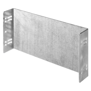 BLANK PLATE IN STEEL - 1 MODULE HIGH - 12 MODULES