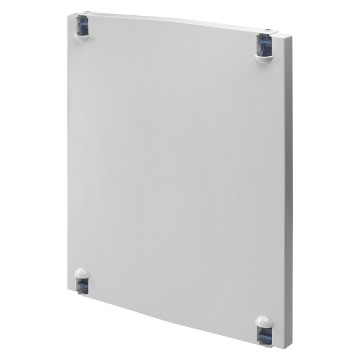 Hinged enclosure doors in polyester for assembly of command, signalling and measuring devices - Grey RAL 7035