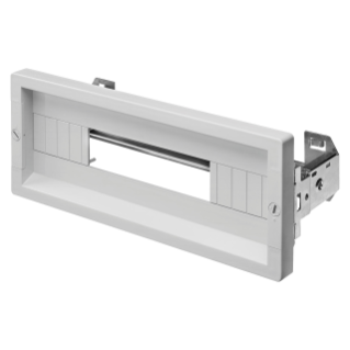 COVERING PANEL WITH WINDOW - FAST AND EASY - 1 MODULE HIGH - 18 MODULES - GREY RAL 7035