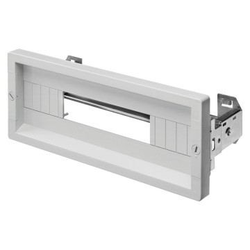 Covering panels with window, height 1 module, Fast & Easy quick assembly Grey RAL 7035
