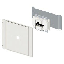 Installation kit for switch-disconnectors in fixed assembly complete with perforated front panel and fixing plate