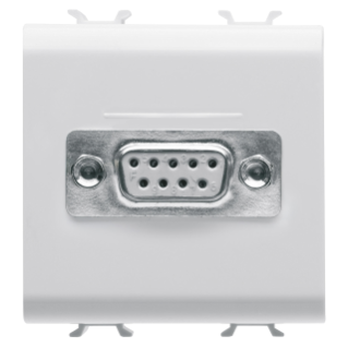 CONNECTOR FOR CONVENTIONAL NETWORKS - SUB-D 9 CONTACTS - CONNECTION WELD-IN - 2 MODULES - WHITE - CHORUS