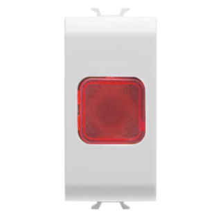 SINGLE INDICATOR LAMP - RED - 1 MODULE - WHITE - CHORUS