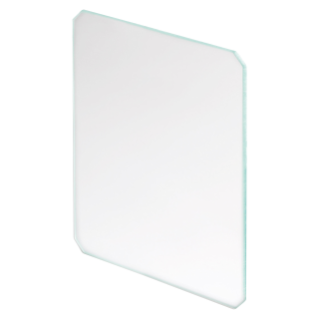TITANO - TEMPERED TRANSPARENT GLASS - FOR FRAME WITH SLOTS OR HOOKS