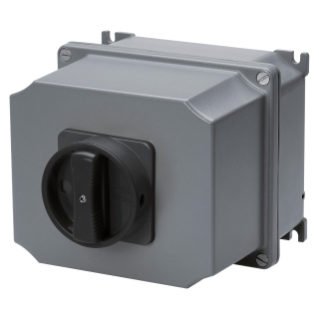 ROTARY CONTROL SWITCH - SURFACE MOUNTING - COMMAND - ATEX - ALLUMINIM BOX - BLACK KNOB - 4P 16A - IP65